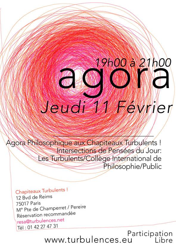 Agora 11 février de 19h à 21h