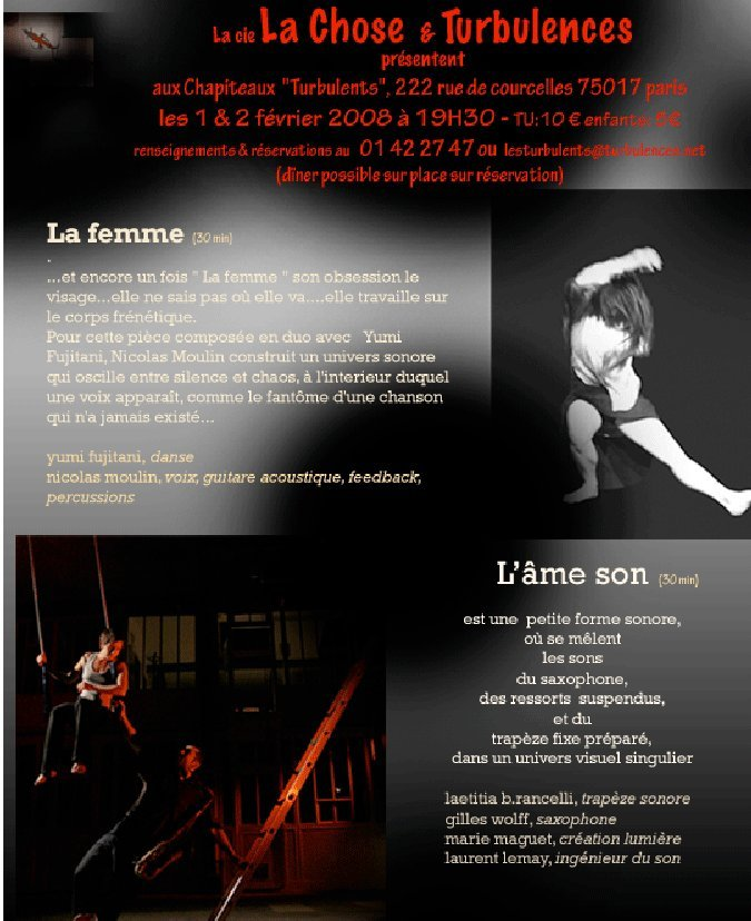 La Chose et Compagnie le 1 et 2 février 2008 à 19h30