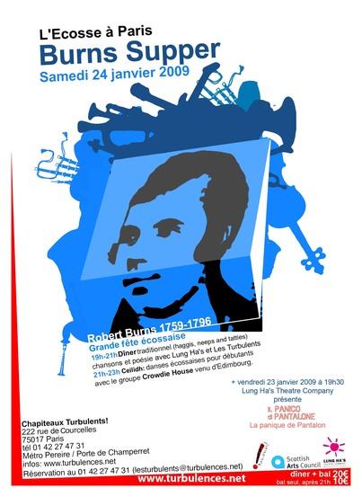 L'ecosse à Paris - Burns Supper - Samedi 24 janvier 19H