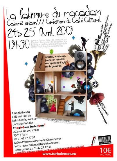 «  La Fabrique Du Macadam » - Cabaret urbain -  Vendredi 24 et Samedi 25 avril à 19h30