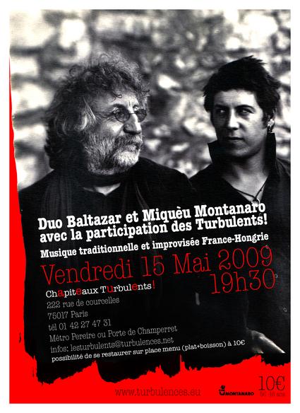 Le Duo Baltazar & Miquèu Montanaro -  Vendredi 15 mai à 19h30