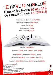 """La bande annonce du spectacle """"Le rêve d'Anselme"""" du 19 au 24 octobre à 19h30"""
