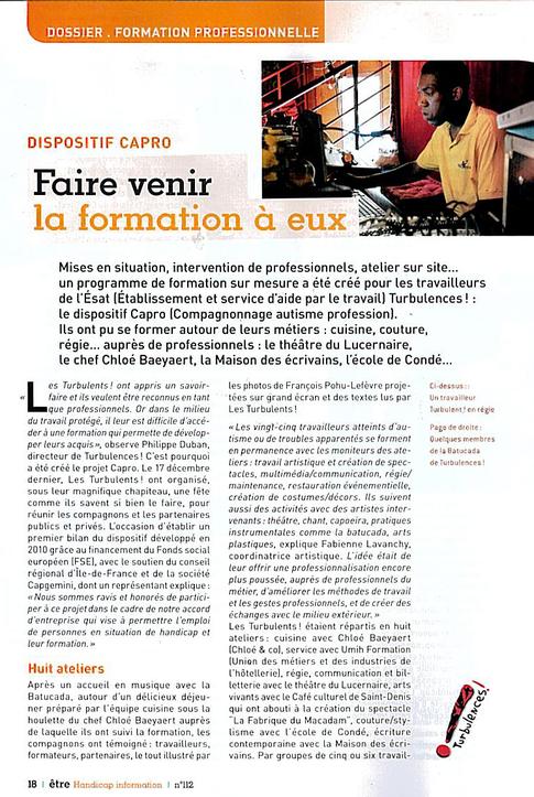 Revue être handicap info N° 112 mars avril 2011