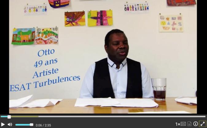 Interview d'Otto, artiste de l'ESAT Turbulences