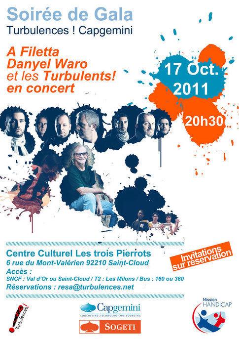 Lundi 17 octobre à 20h30 : Les Turbulents ! avec A Filetta et Danyel Waro