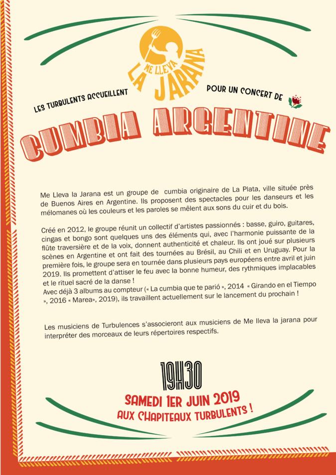 CUMBIA ARGENTINE 1ER JUIN 2019 à 19h30