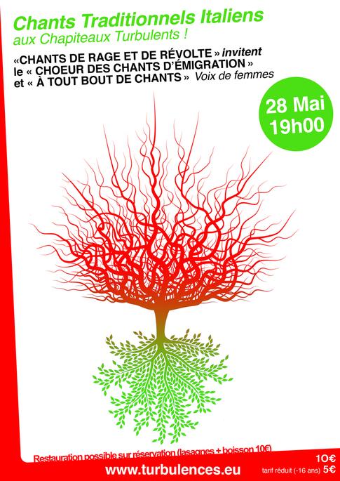 28 mai à 19h - « CHANTS DE RAGE ET DE REVOLTE» Chœur des chants de  l'émigration