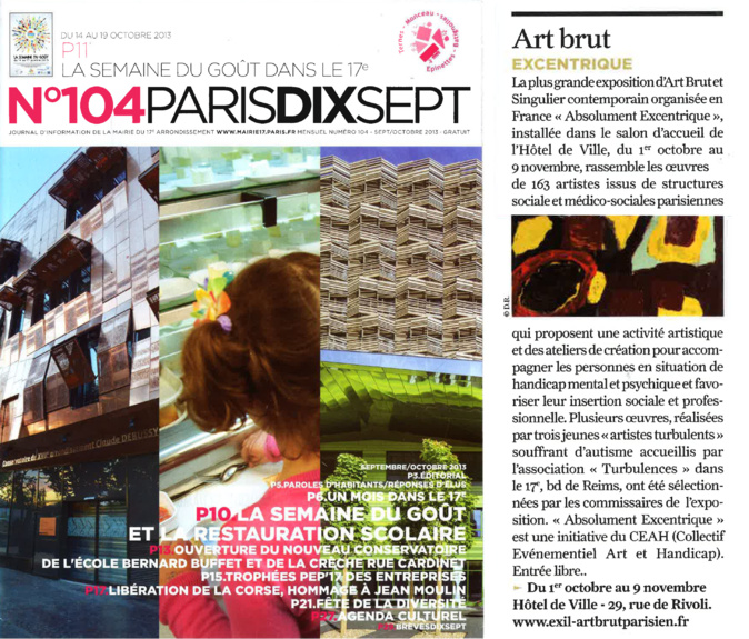 N°104 PARIS DIX SEPT Art brut excentrique