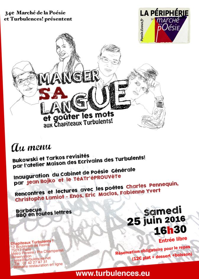 34e marché de la poésie et Turbulences ! 25 juin 16h30