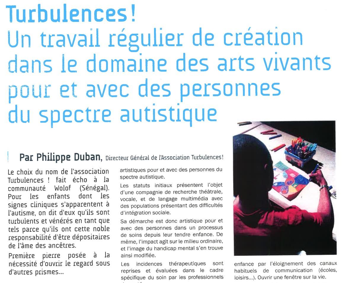 Revue trimestrielle Sésame Autisme par Philippe Duban