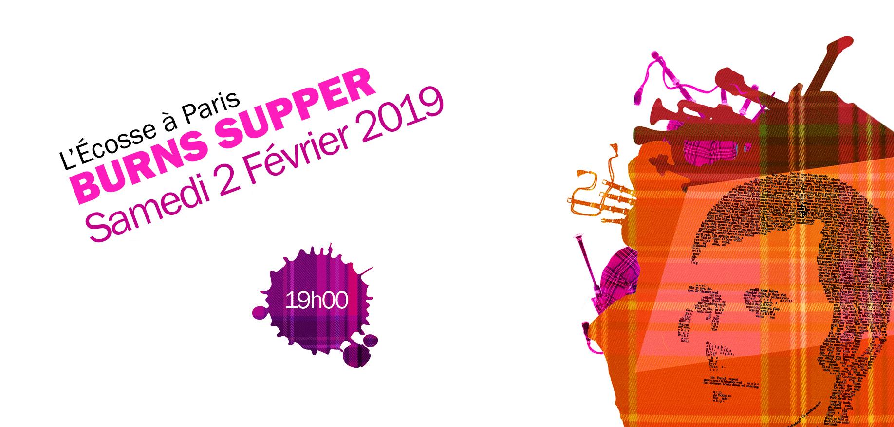 Burns Supper Samedi 2 Février 2019 à 19h