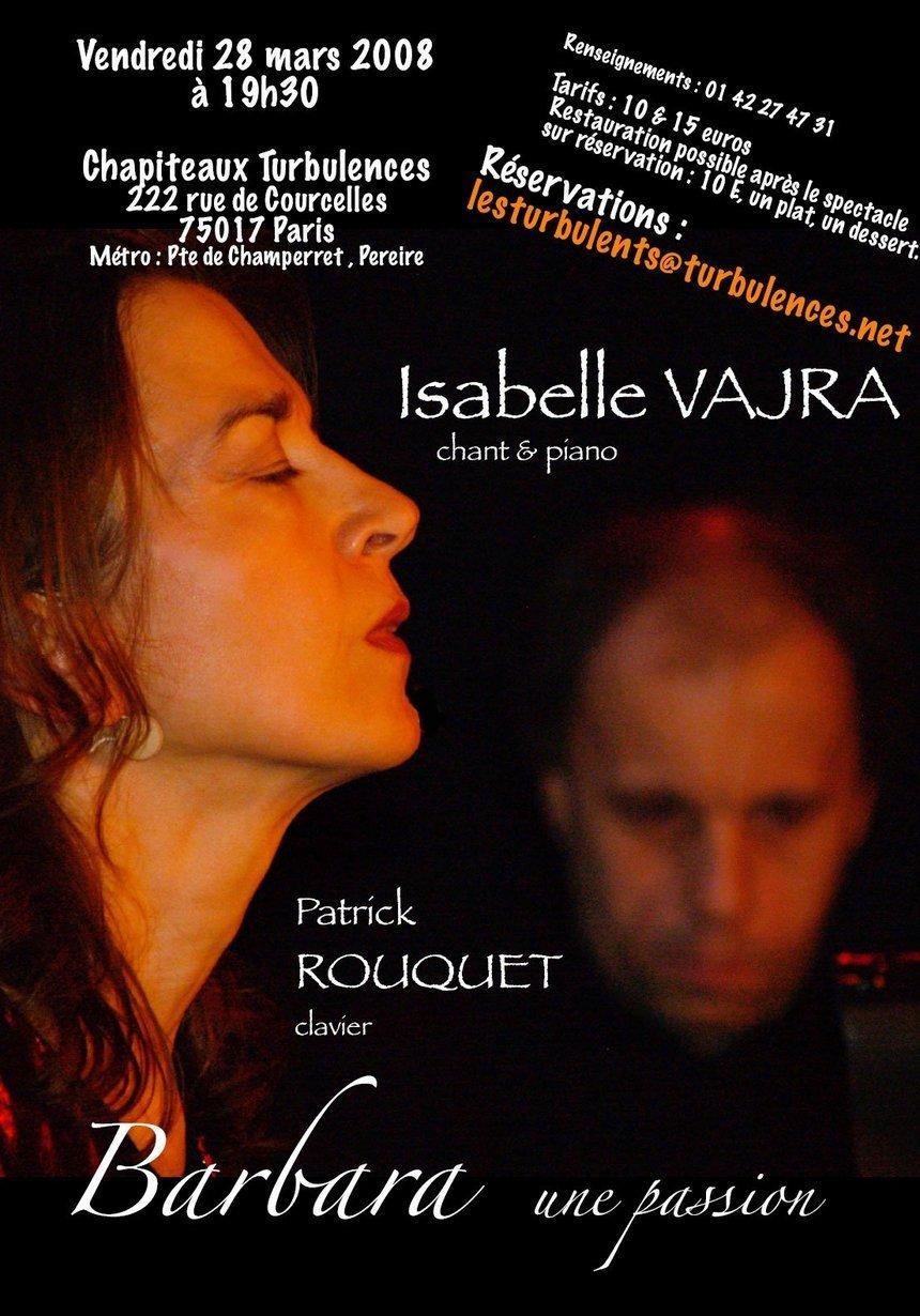 Barbara une passion...Le 28 Mars 2008 aux Chapiteaux.