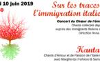 10 juin à 19h30 > KANTALISO Sur les traces de l'immigration italienne