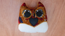 Coussin Hibou Neige